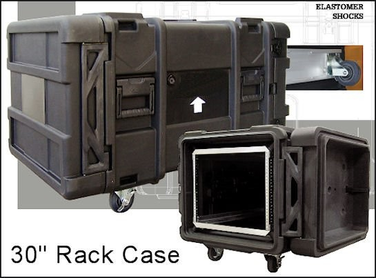 Portable Network Racks With Ups : Wheeled portable rolling rack mount cases